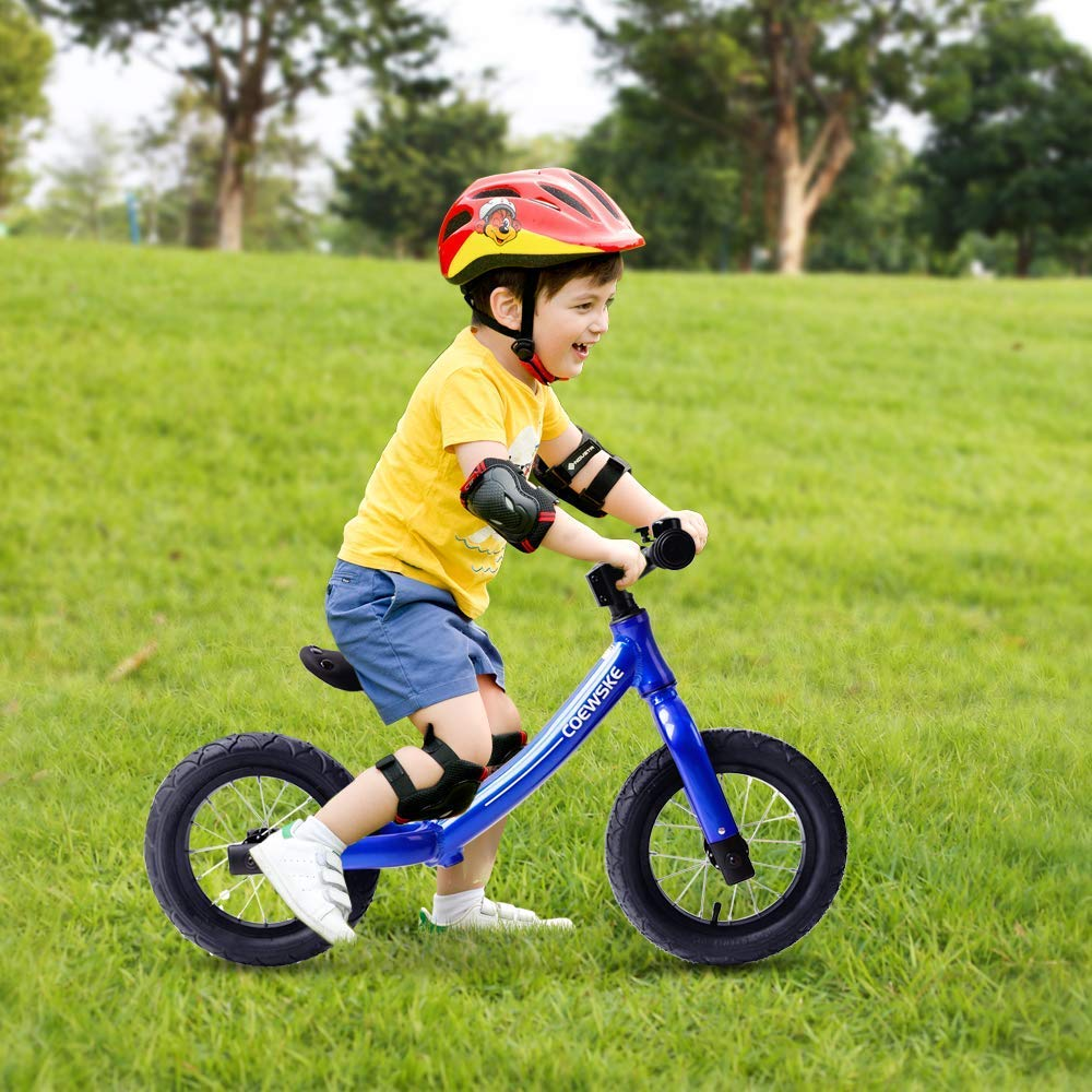Coewske 12 Inch Aluminum Balance Bike Toddler No Pedals For 2 – 6 Year Old - Red, Blue, Black 5
