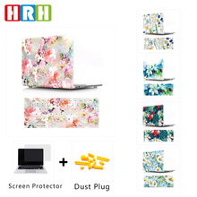 HRH Flower PC Protective Laptop Body Shell Hard Plastic Case Silicone Keyboard Cover for Mac Air Pro Retina 13 12 15 11Touch Bar