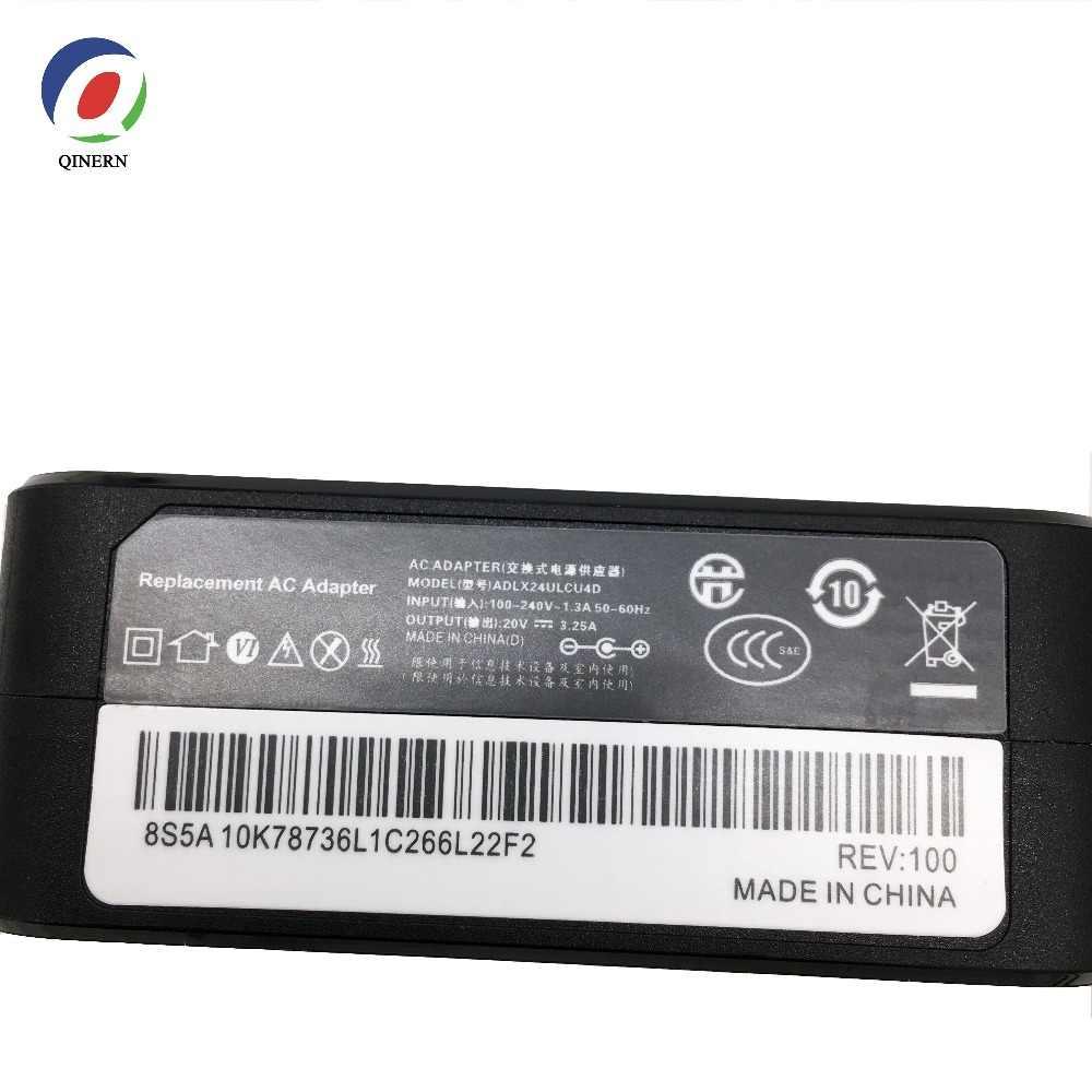 QINERN EU 20V 3.25A 65W 4.0*1.7mm caricabatterie per Laptop ca per Lenovo IdeaPad 100-15 710 YOGA 510-14ISK adattatore di alimentazione per Notebook