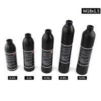 PCP Paintball Airforce M18x1.5 High Pressure Tank 0.22L 0.3L 0.35L 0.45L 0.47L Cylinder Air Bottle 300bar 4500psi Aluminum Alloy