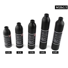 PCP Пейнтбол ВВС M18x1.5 сосуд высокого давления 0.22L 0.3L 0.35L 0.45L 0.47L цилиндр воздуха бутылки 300bar 4500psi Алюминий сплав