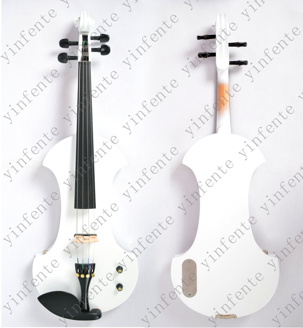 One 4/4 Electric Violin New Shape Many Colors Solid wood Black yellow white blue ect... 4 4 electric violin solid wood 9 28 black color 4string