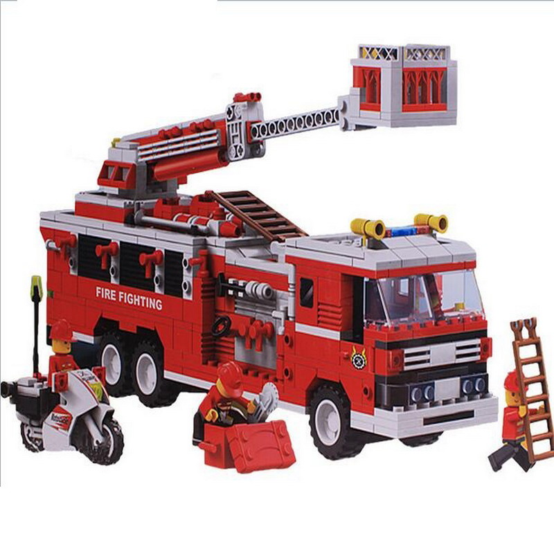33021 Wange City Fire Rescue Fighting Truck Model Building Blocks Classic Enlighten Figure Toys For Children Compatible Legoe wange city fire emergency truck action model building block sets bricks 567pcs classic educational toys gifts for children