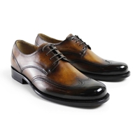 Vintage Retro Custom Made Men S Derby Shoes Awesome Fashion Dress Luxury Wedding Lace Up 100