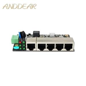 Image 1 - Conmutador ethernet Industrial de 5 puertos, conmutador Ethernet no gestionado de grado industrial con 5 puertos Ethernet adaptables de 10/100 M