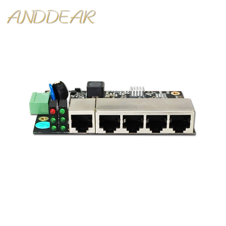 Industrial ethernet switch 5 port industrial grade unmanaged Ethernet Switch with 5 10 / 100M adaptive Ethernet ports-in Network Switches from Computer & Office