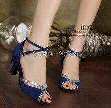 Women Blue Suede LATIN Dancing Shoes SALSA Dance Shoes Tango Shoes Samba Dancing Shoes All Size