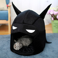 Funny Cat Dog Bed Creative Batman Kennel Teddy Pet Nest Washable Warm Dogs House Supplies Mat Pet Supplies Dog Bed Acccessories