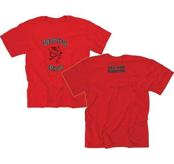 SICK OF IT ALL New York Hardcore T Shirt tienda de impresion de camisetas