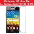 HD LCD Clear Glossy Film For Samsung GALAXY S2 I9108 Anti-Glare Matte Film For Samsung S2 HD LTE E120L Screen Protector Film