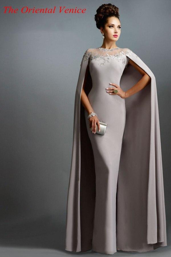 Vestidos de noche en gris