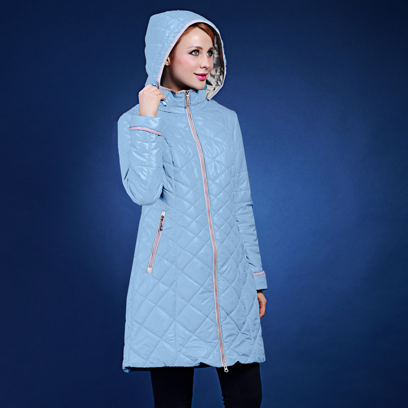 Beautiful multi-color spring and autumn lining flower medium-long with a hood thin cotton-padded jacket  fashion wadded VLC-V506 2015 new mori girl medium long thickening with a hood color block decoration cotton padded jacket wadded jacket