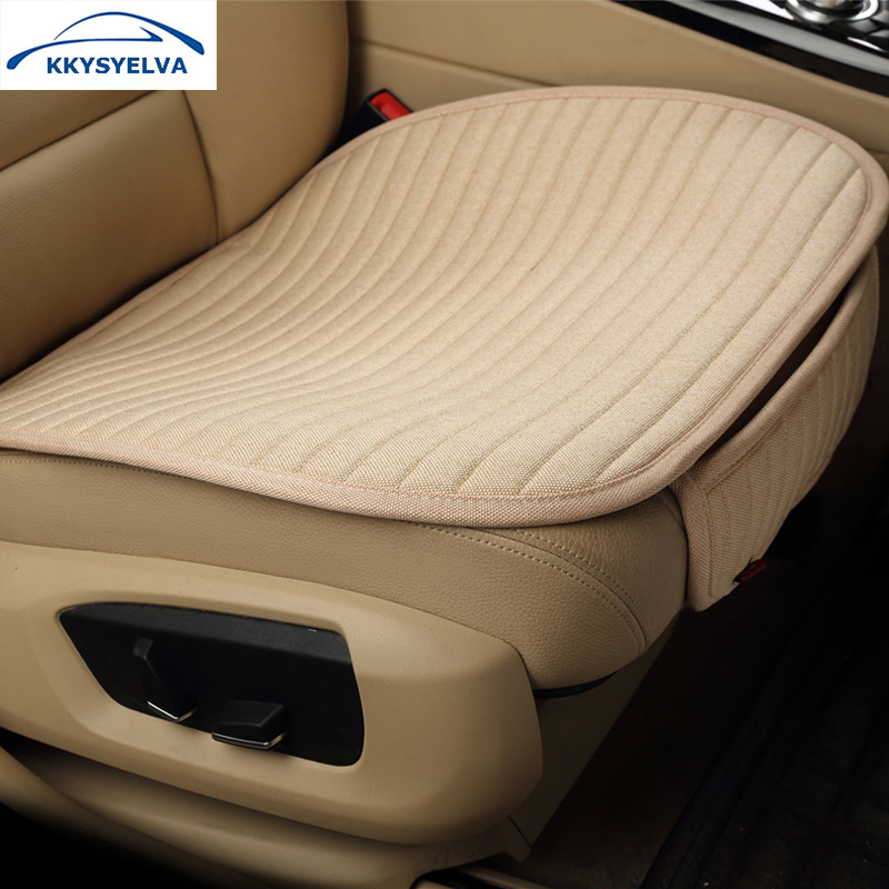 Flax beige grey car seat cover set universal comfortable - Car seat covers for tan interior ...