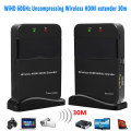 Full HD 1080P 3D Wireless HDMI Extender 60GHz 30M 98ft TV Audio Video Sender Transmitter + Receiver WIHD HDCP 2.0 LPCM HD 7.1CH