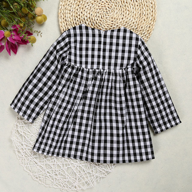 sun moon kids baby girl dress casual plaid christmas dress new autumn winter infant girls clothes vestidos children tutu princes
