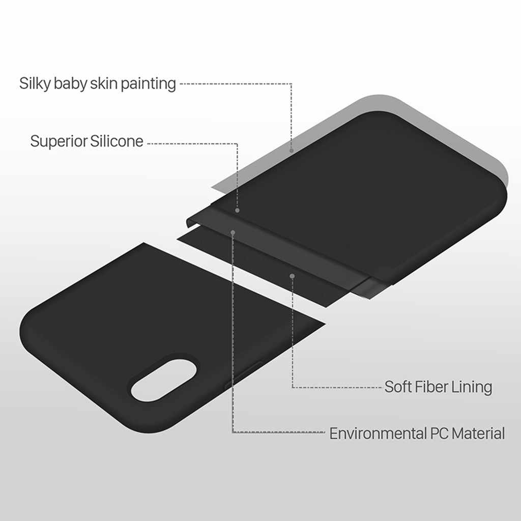 หนังกลับกรณีสำหรับ Apple IPhone XR 6.1 นิ้ว Slim & Smooth โทรศัพท์กรณีครอบคลุม Dropship Nov.24