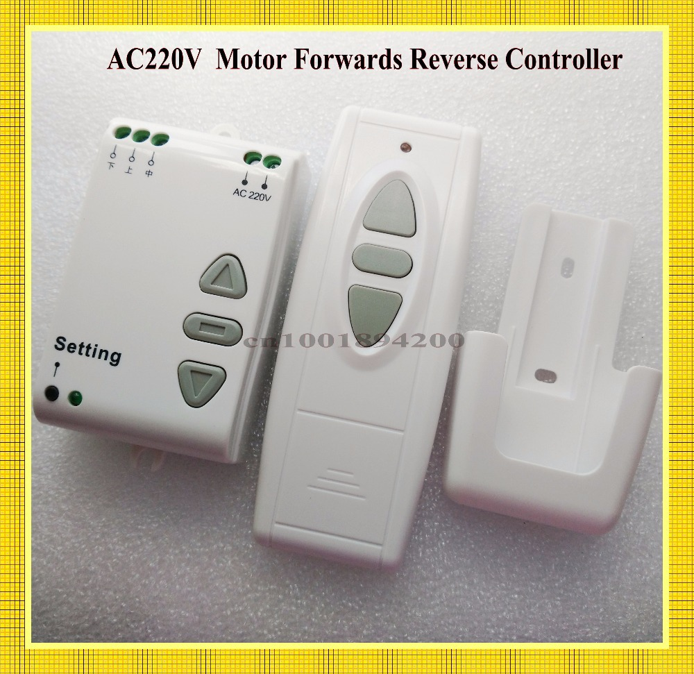 AC 220V Motor Remote Controller Wireless Remote Control Switch UP Down Stop Tubular Motor Controller Motor Forward Reverse TX RX wireless remote control switch system ac 220v 10a motor forward reversal reverse controller up down stop garage door for curtain