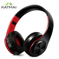 KATMAI Bluetooth Headphones Wireless Stereo Noise Cancelling Headset With Mic Micro SD Card Earphones For Iphone