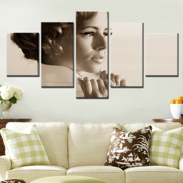 elegance classical pretty woman poster fashion gifts for home decor 5pcsset oil painting canvas