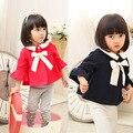 2017 весной и осенью новый стиль детские новорожденных девочек мода милый ребенок кардиган пальто куртки красивый мыс пальто Верхняя Одежда