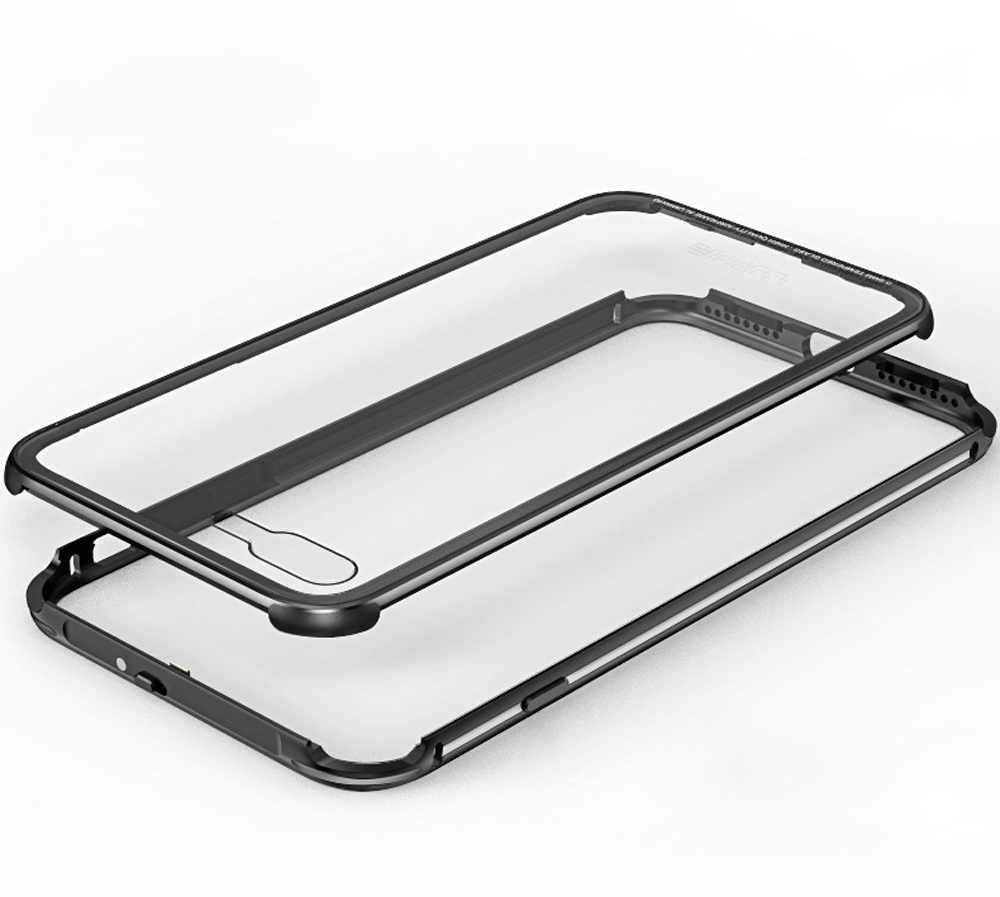 imágenes para Caja de aluminio de Parachoques del Metal Para Apple iPhone 7 Plus lujo Transparente 9 H Vidrio iPhone7 Caso Para Apple iphone 7 Plus caso