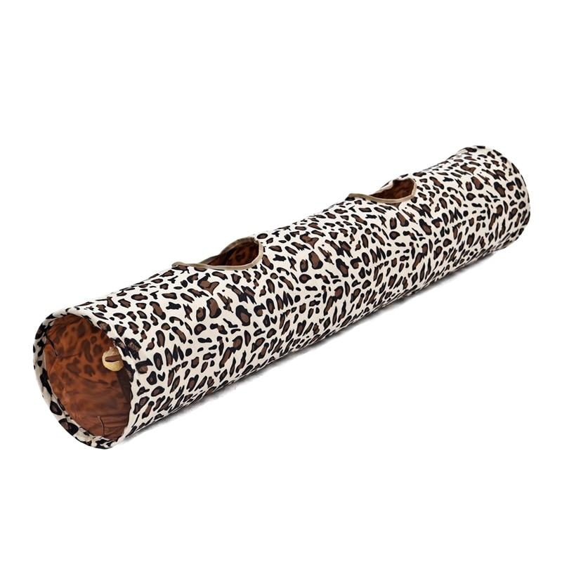 Leopard Cat Tunnel with Soft Ball Cat Rabbit Toys Play Tunnel - Produkty dla zwierząt domowych - Zdjęcie 1