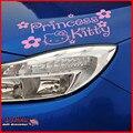 Бесплатная доставка принцесса привет котенок автомобиля наклейки для свет лоб глава дверь светоотражающие автомобиля украшения автомобили аксессуары укладка
