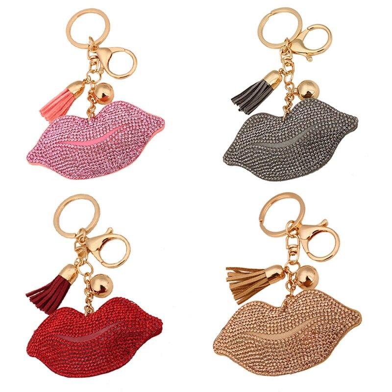 Personality Big lips style Retro Keychain Classic High-grade Key Ring Car Key Ring Car Accessories