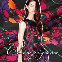 בד אריג נוקשה ומבריק פרחים ויולט נדיר אופנה בדים רכים בד באיכות גבוהה סיטונאיים