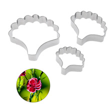 Stainless Steel Carnation Flower Petal Shape Cutting Mold Designer DIY Polymer Clay Floral Cutter molds Tool