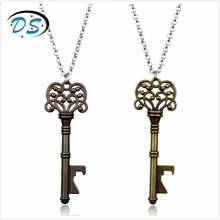dongsheng jewelry Vintage Gothic Necklace in Accessories Hollow Key Pendants Charms Link Chain Necklaces &Bar Beer Bottle Opener