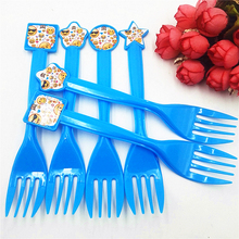 6pcs/set Emoji Forks Kids Birthday Party Supplies Baby Shower Decoration Disposable Tableware favors