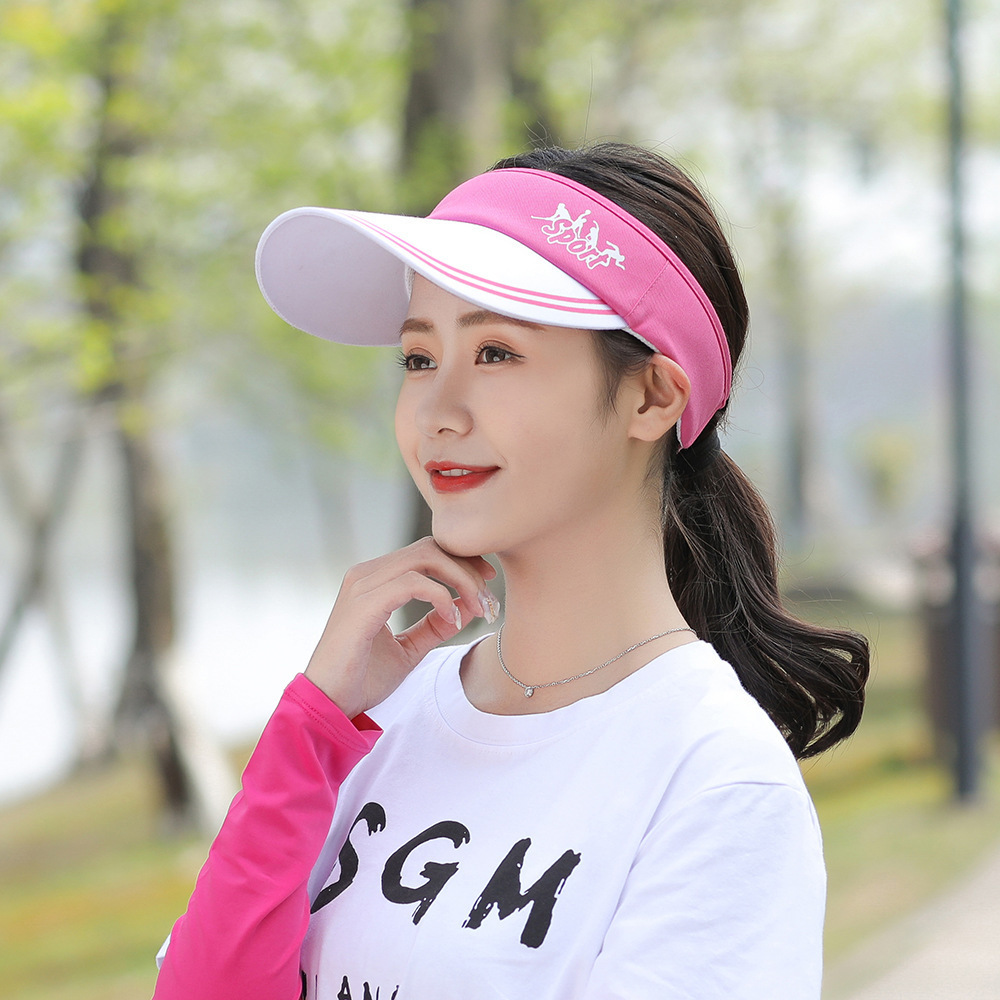 Color Matching Polyester Adjustable Caps Men Women Sunscreen Empty Top Running Cap Reflective Sports Baseball Hats Comfortable And Easy To Wear