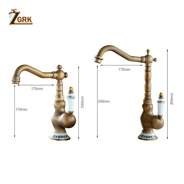Mixer tap for bathroom sink with hot and cold water mixer