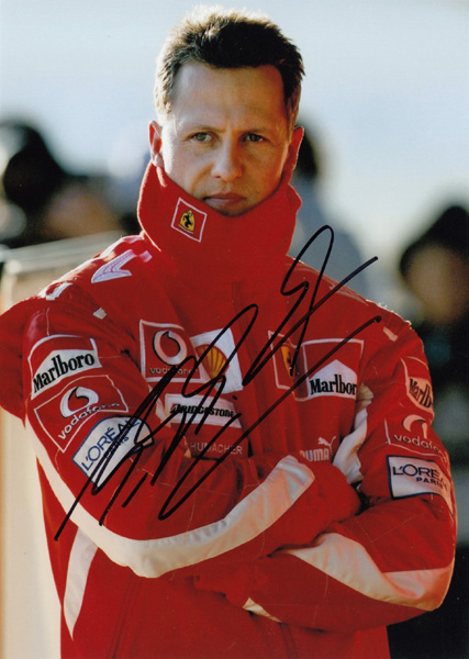 signed  Michael Schumacher autographed  photo picture autographs  7 inches  free shipping  122017Dsigned  Michael Schumacher autographed  photo picture autographs  7 inches  free shipping  122017D