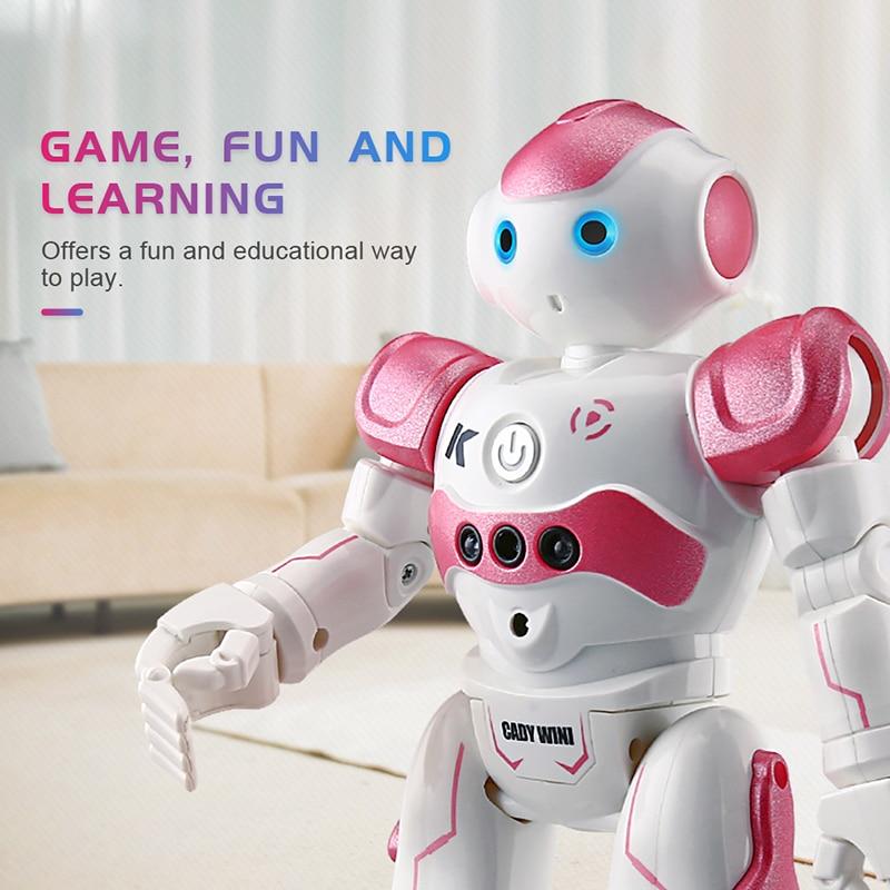 Oyuncaklar ve Hobi Ürünleri'ten Elektronik Evcil Hayvanlar'de 2019 yeni RC Robot akıllı programlama uzaktan kumanda oyuncak Biped insansı Robot çocuk çocuklar için doğum günü hediyesi elektronik pet title=