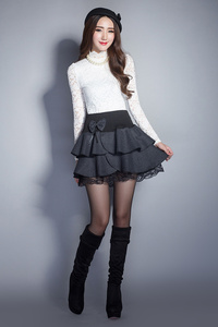 Image 5 - Женская эластичная мини юбка Zuolunouba, летняя юбка пачка с цветочным принтом и бантом, кружевная офисная юбка шорты, 2020