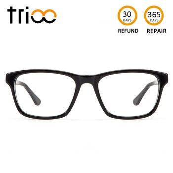 e31ef1bf0f TRIOO gafas ópticas negro Simple cuadrado prescripción gafas para los  hombres Unisex lectura menos gafas astigmatismo gafas