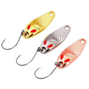 Image 1 - 3 stück 3 Farben Sirajiong Zink legierung Kleine Löffel Fischerei locken 1 g 2g 3,5g Süßwasser Karpfen Angeln angelgerät Isca Künstliche Pesca