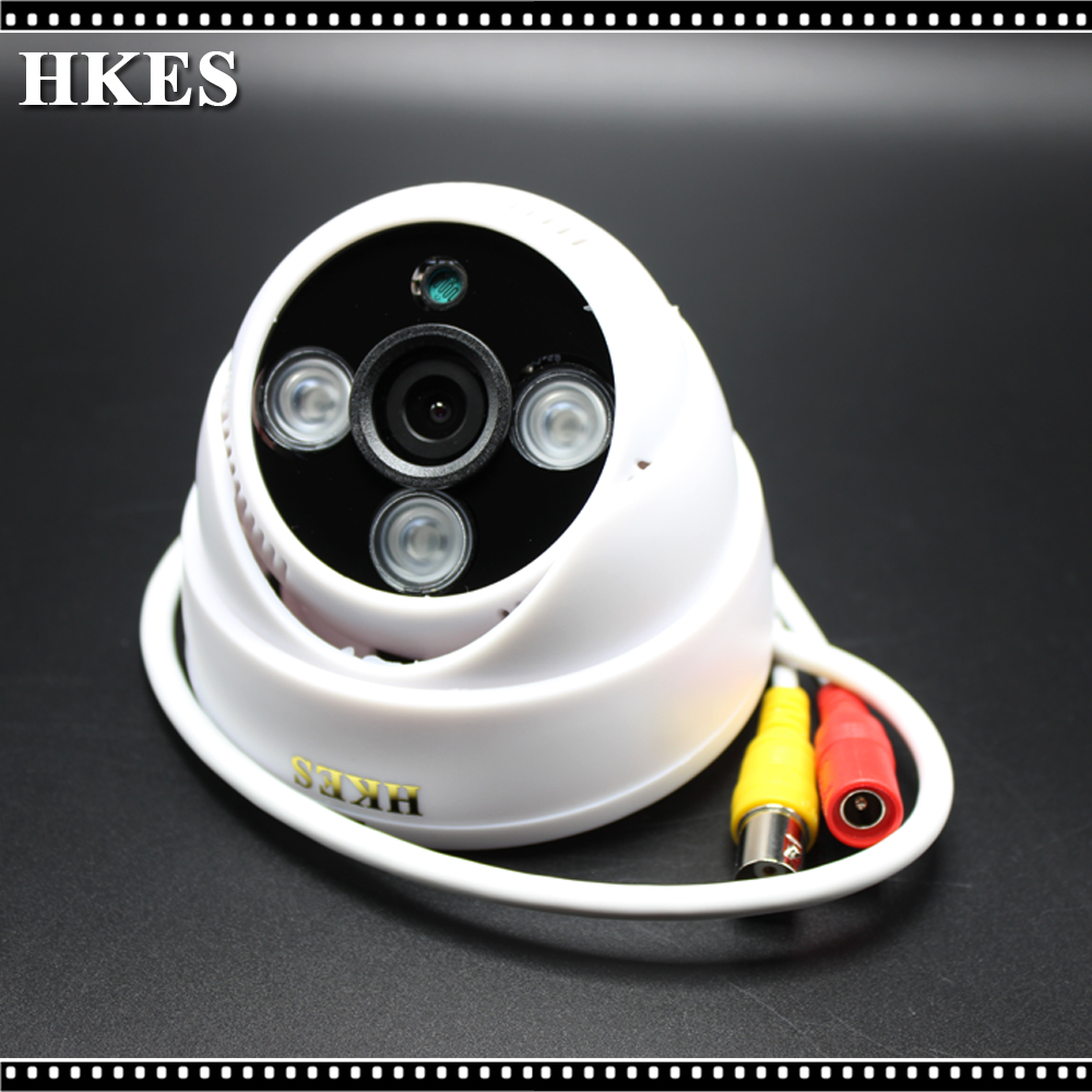 HKES Hot Products 2MP HD 1080P AHD Camera Security Camera Surveillance Indoor Dome 3* Array infrared night vision CCTV Camera new home 2mp hd ahd 1080p camera security cctv white dome 2pcs array infrared night vision surveillance camera ahd h system