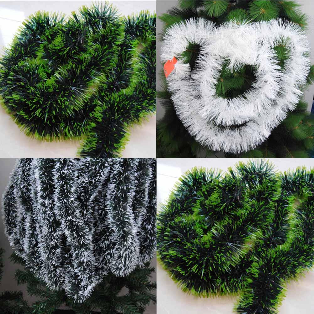 200 см разноцветное Рождественское украшение, топы, лента, гирлянда, елочные украшения, белые, темно-зеленые трости, вечерние украшения