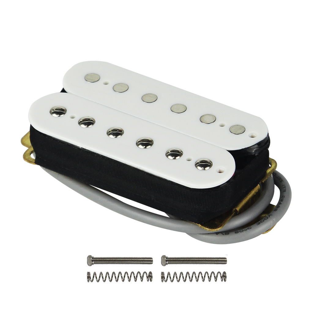 Fleor White Pickup Guitar Humbucker Double Coil Neck 50mm Wiring Pickups 101 Ceramic Magnet 4 Wires For Electric Parts In Accessories From