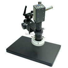 2.0MP 1/3 Inch Sensor Digital Industry Microscope Camera VGA Outputs 10X-130X C-mount Lens LED Lights Rotate Workbench