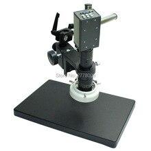 Promo offer 2.0MP 1/3 Inch Sensor Digital Industry Microscope Camera VGA Outputs 10X-130X C-mount Lens LED Lights  Rotate Workbench