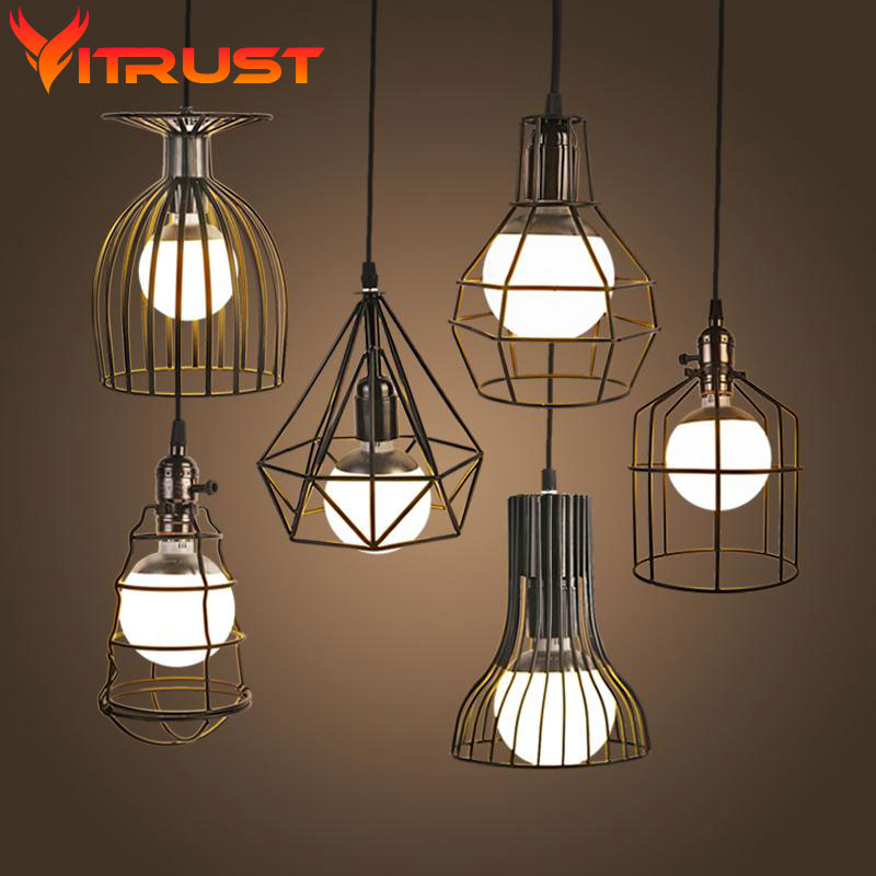 modern industrial style pendant lighting iron art led pendant lights