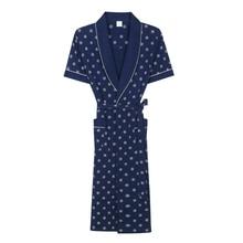 2017 neue Frühling Sommer Herbst herren kurzarm Baumwolle Roben Nightgown Männlichen Bademantel Erwachsene Sleepwear Nighty Casual Hause Kleidung