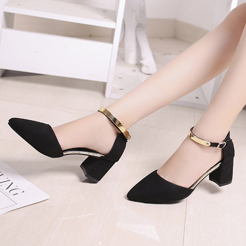 Plus Size Women Sandals Metal Ankle