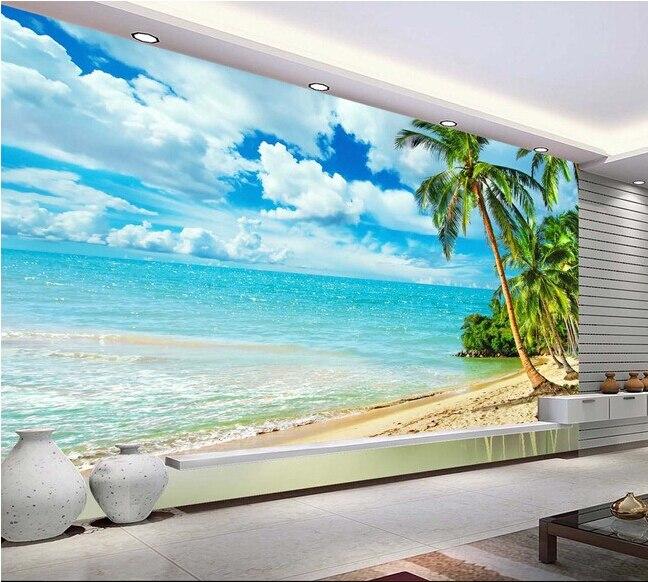 Ξcustom photo wallpaper hawaii beach murals for the living room
