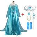 Новое платье Эльзы костюм принцессы Анны и Эльзы для девочек Карнавальный костюм Эльзы на Хэллоуин платье с длинными рукавами для детей ...