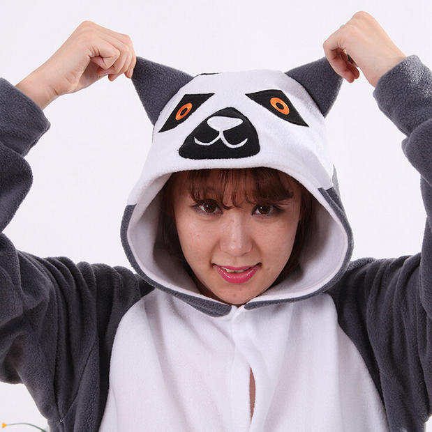 bbe181fb1f Online Shop 2019 Adult Women Men Lemur Costumes Onesies Sleepwear in Winter  Polar fleece Animal Cosplay Pajamas Pyjamas Tracksuit Hallowee
